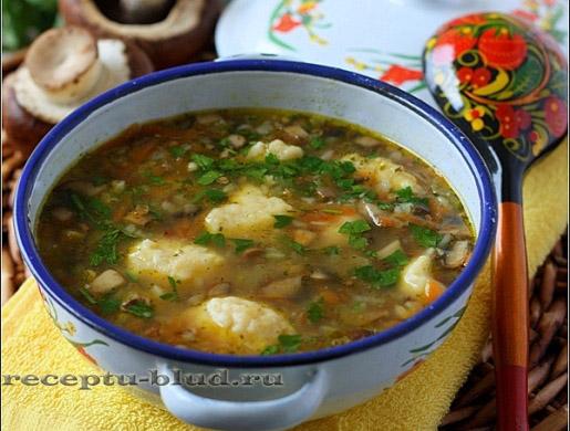 зеленый суп с грибами рецепт